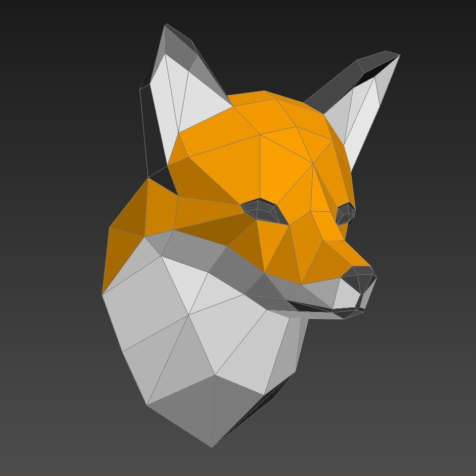 Papercraft fox head on behance jeuxipadfo Image collections