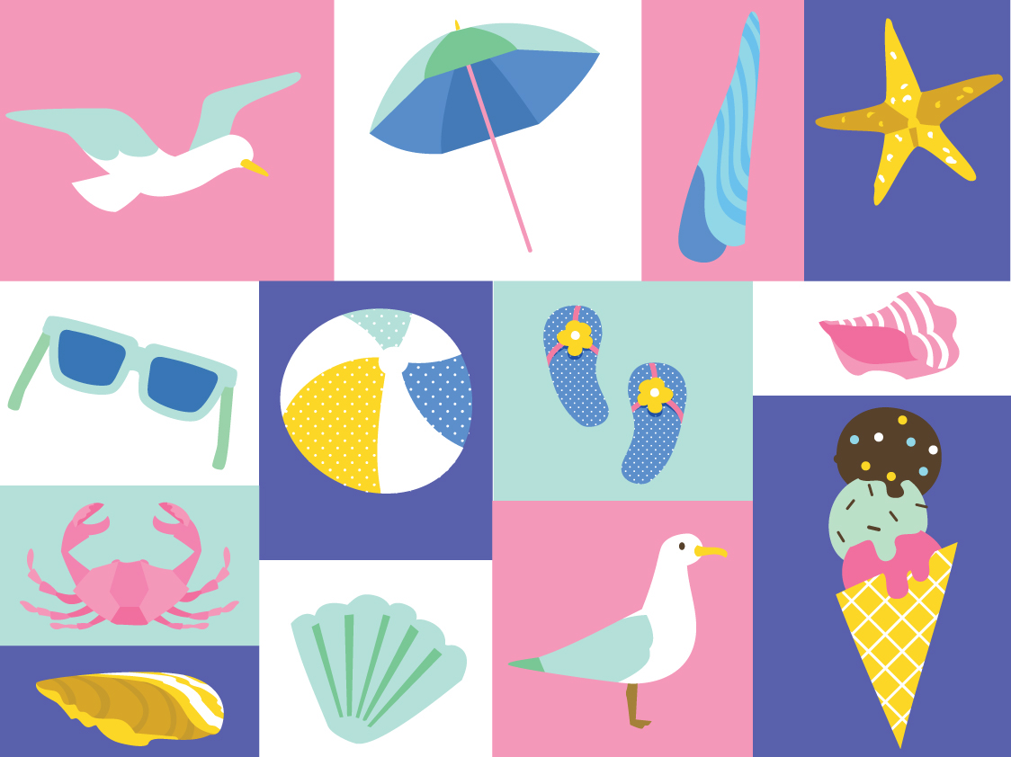 summer beach stationery on behance