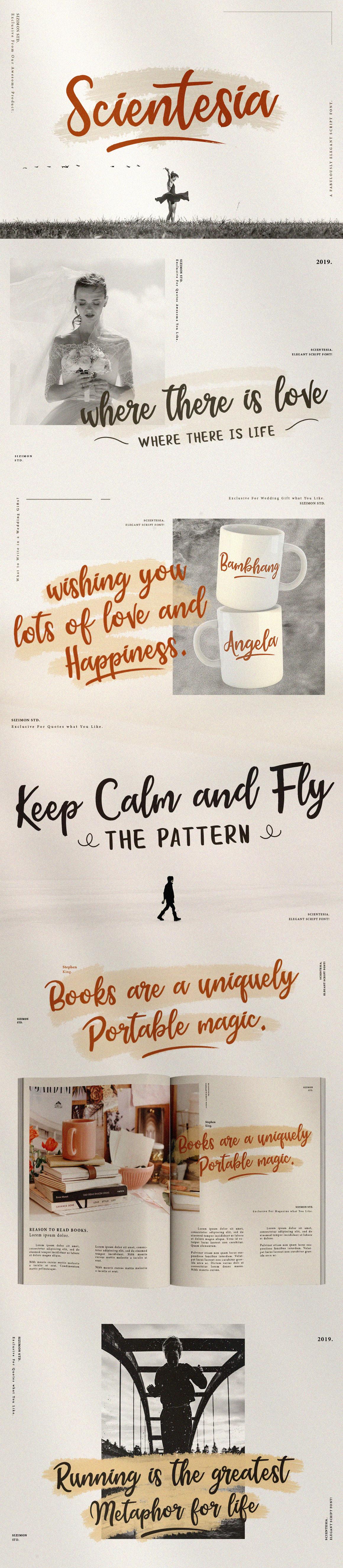 Typeface font brush elegant typography   design Script type identity brand