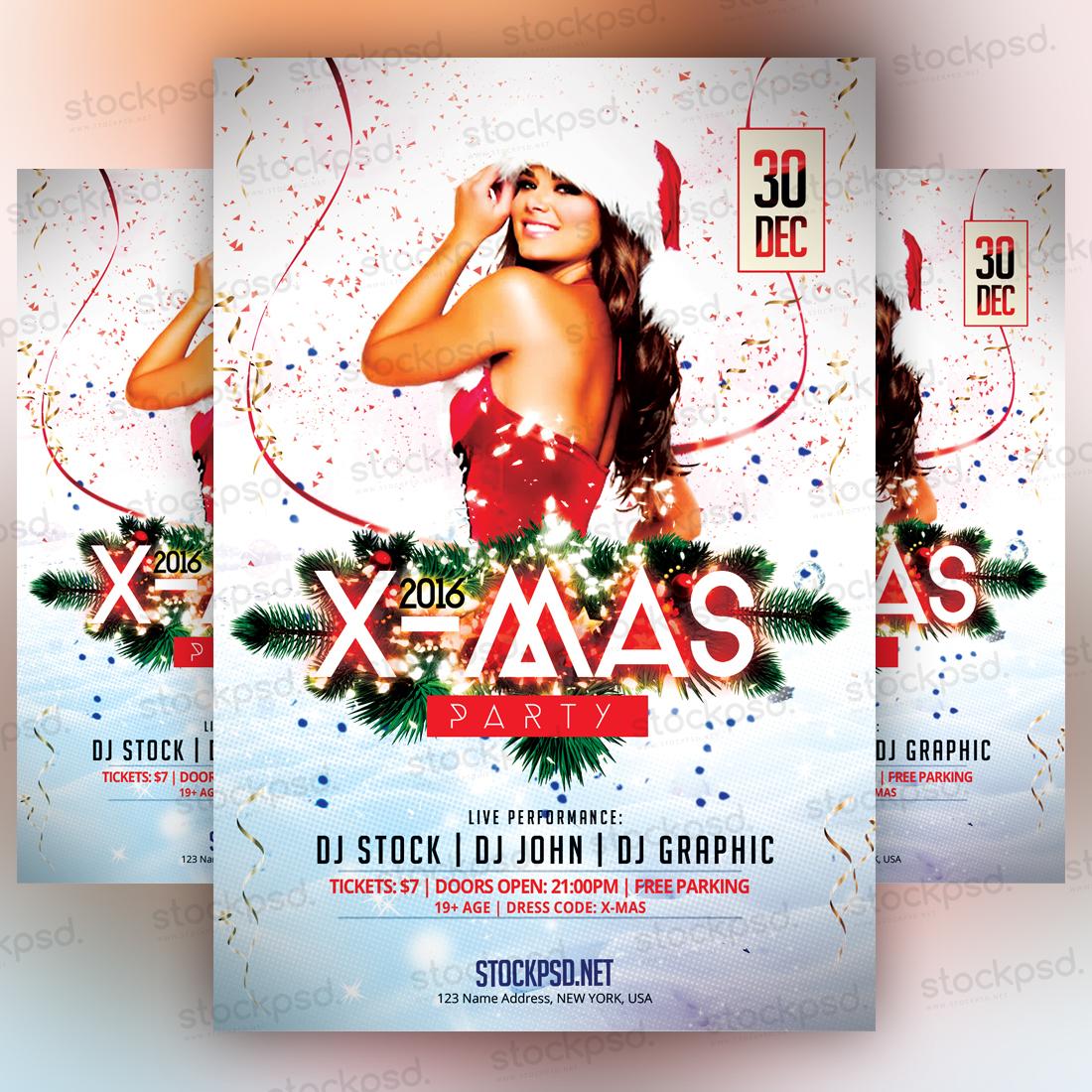 X Mas Party 2016 Freebie Psd Flyer On Behance