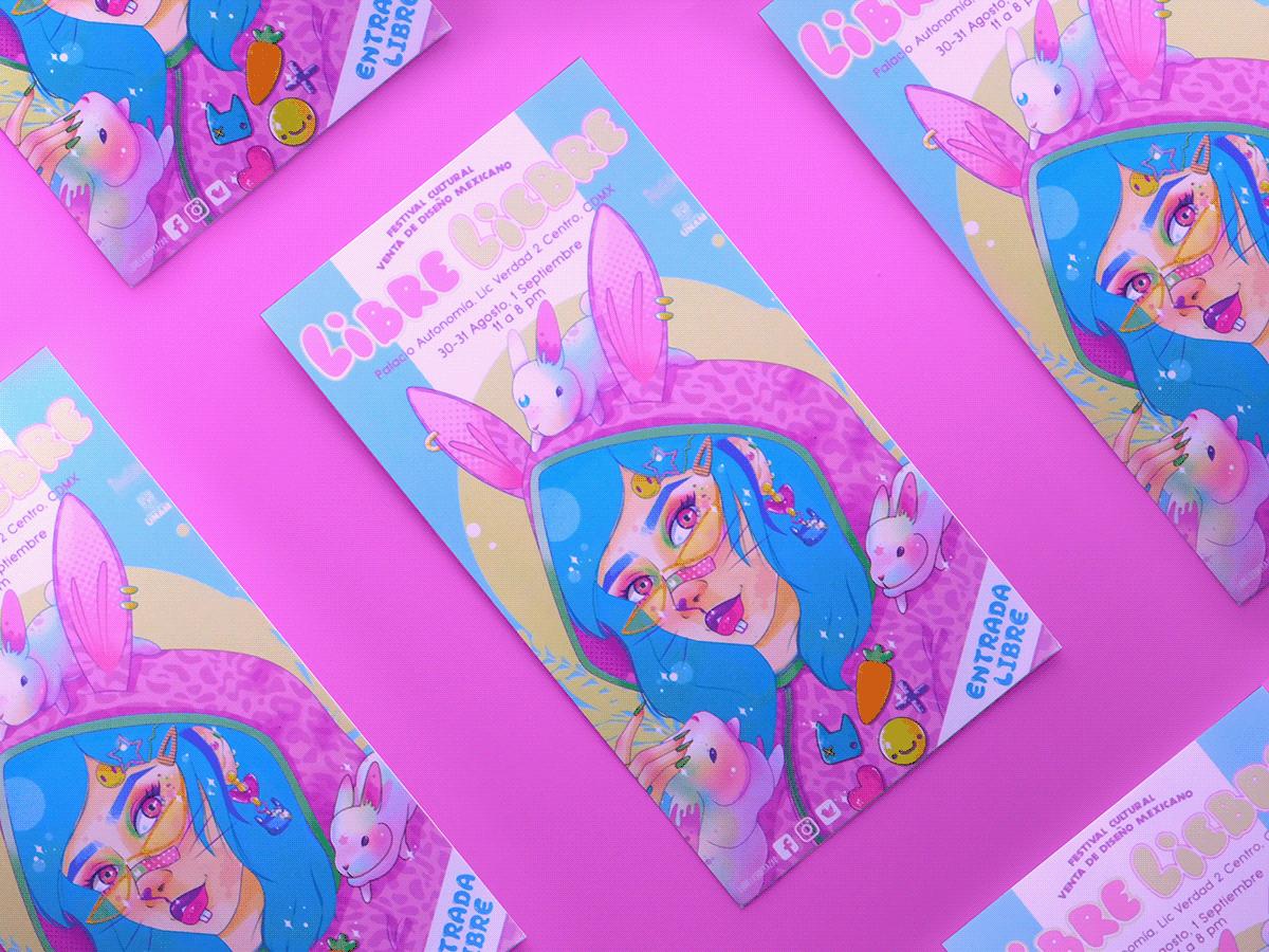 poster,kawaii,pastel,colorful,Digital Art ,ILLUSTRATION