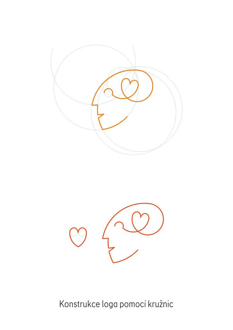 geometry grey head heart logo Logotype orange psychology tt corals
