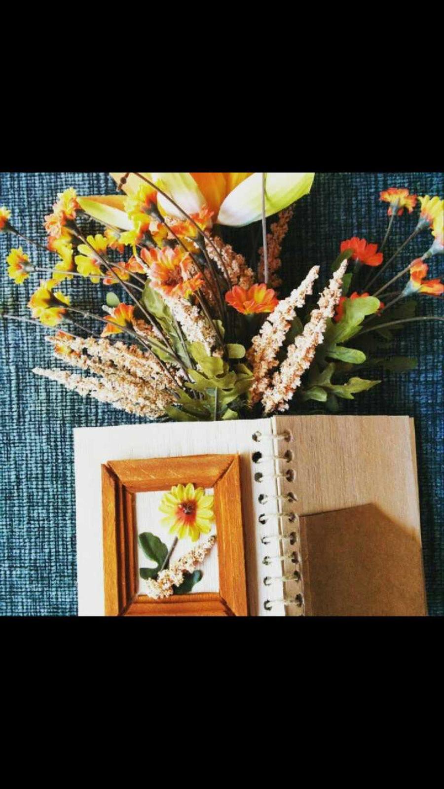 flower notebook handmade gift paper writing