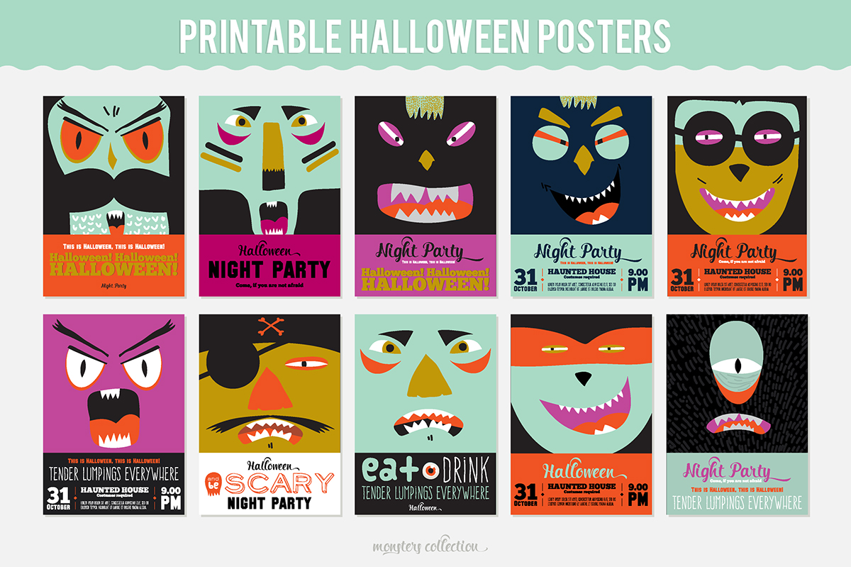 graphic about Printable Halloween Banners called Neat printable Halloween posters, stickers and banners upon