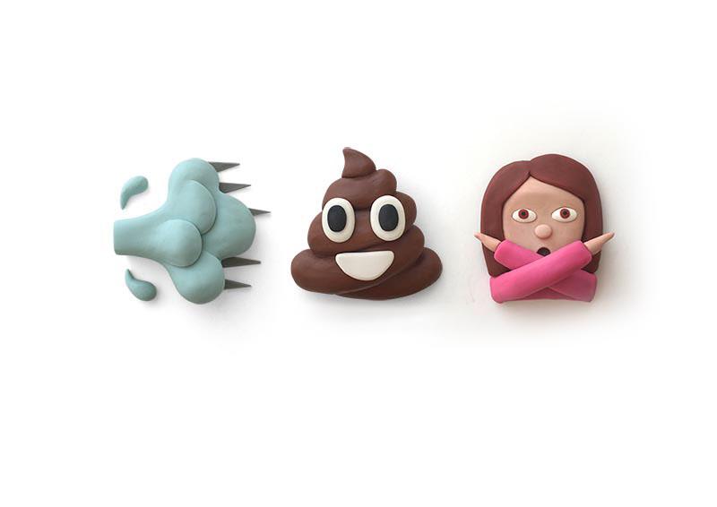 Emoji Plasticine illustrationclay 3D ios icons sticker