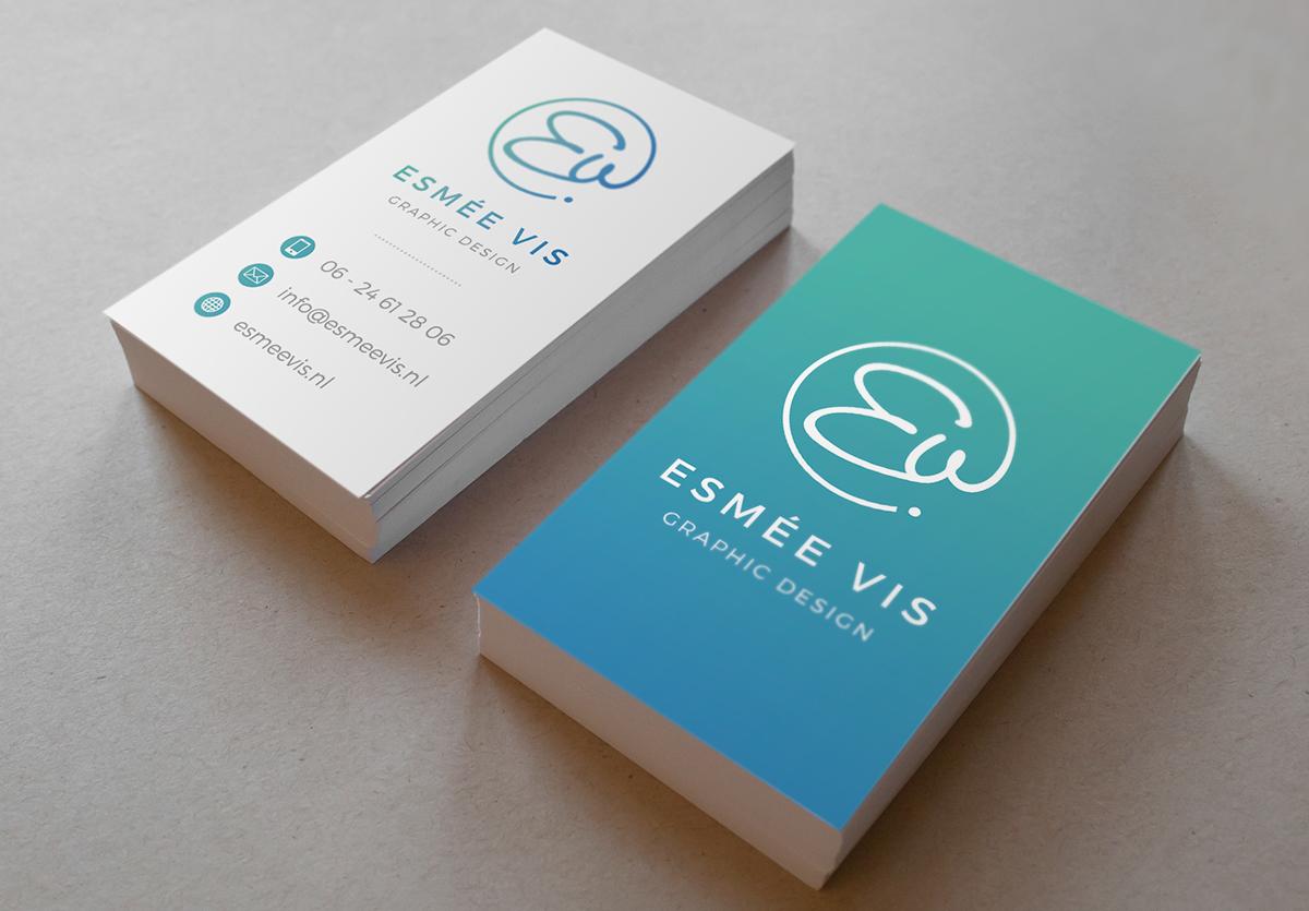 business card business card personal branding company signature esmee vis Esmee Vis