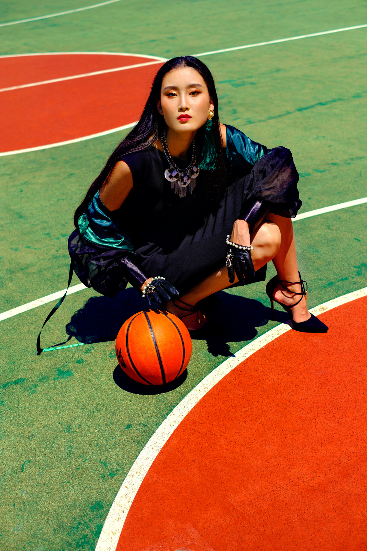 Image may contain: grass, basketball and ball