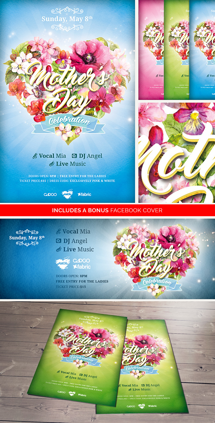 mother s day celebration free psd flyer template on behance