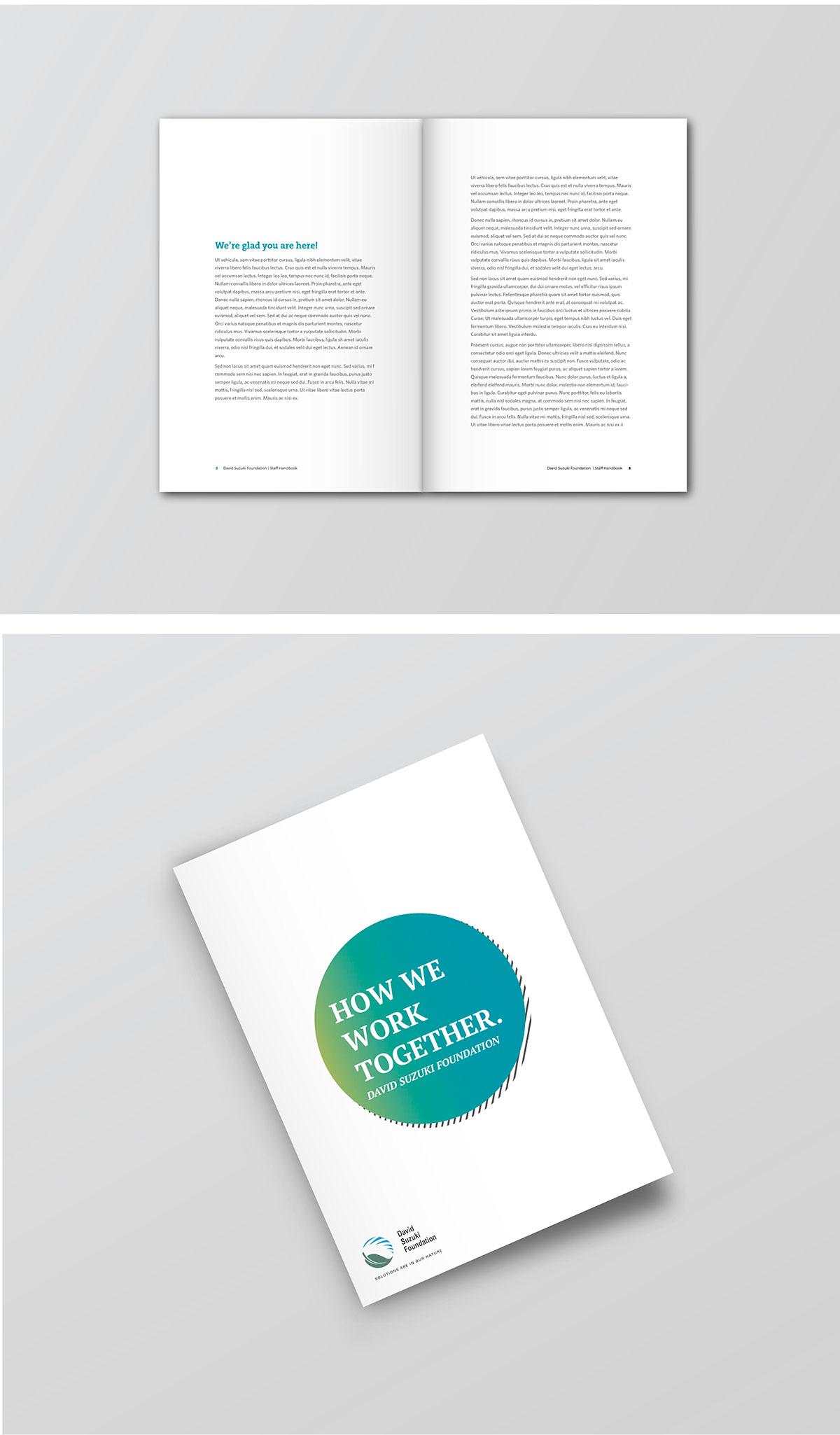 lay out graphic design david suzuki foundation on behance