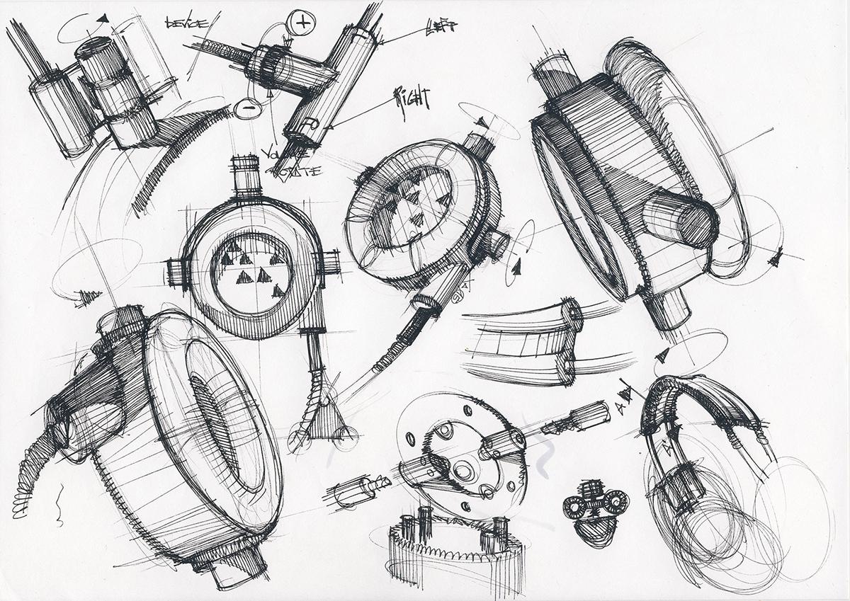 Headphones sketch on behance
