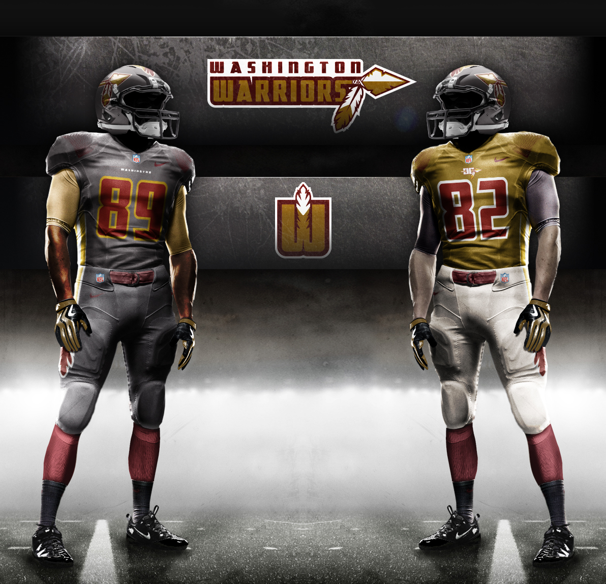 promo code a2f35 a9615 Washington Warriors (Redskins Redesign) on Behance