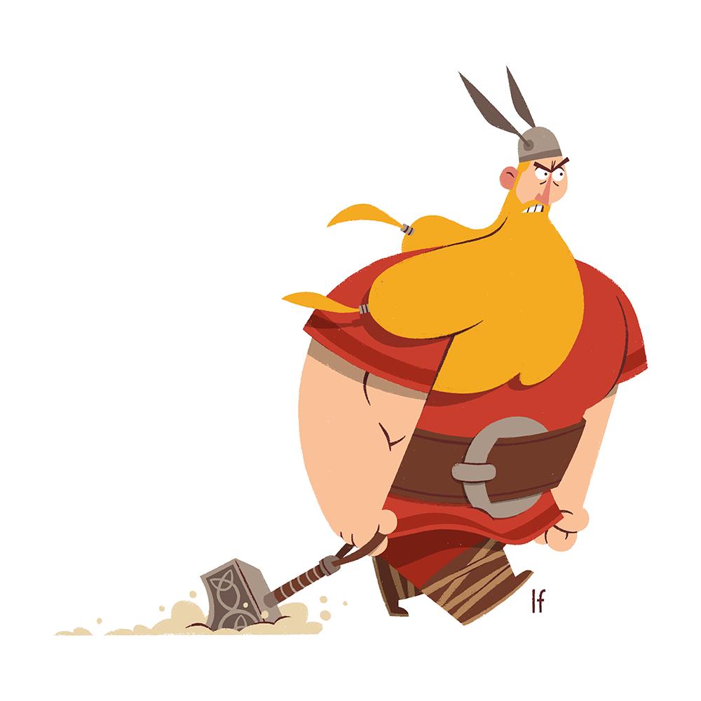 animation  cartoon Character characterdesign God Mjolnir Mytology norsemytology Thor thunder
