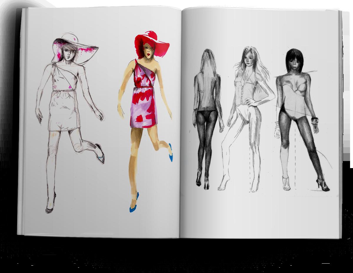 Fashion Illustrations Sketchbook Pt1 On Pantone Canvas Gallery