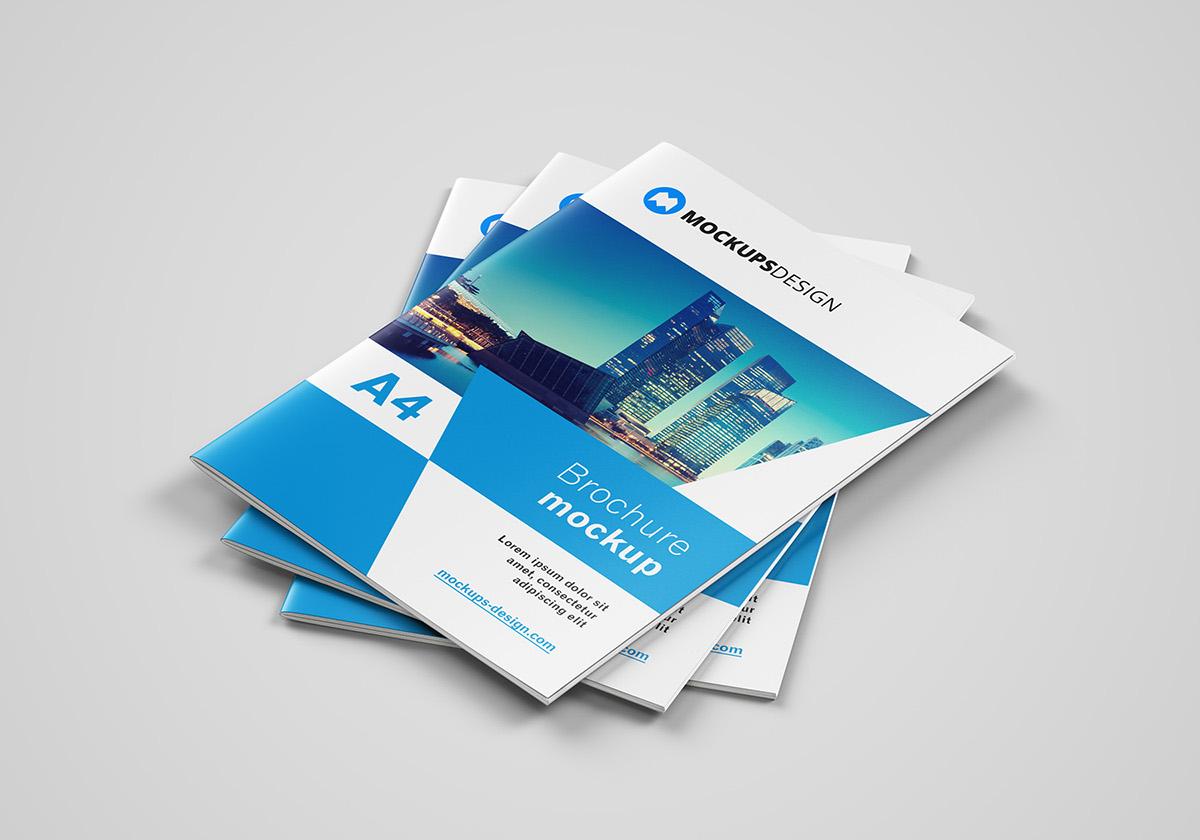 Free A4 Brochure Mockup On Behance