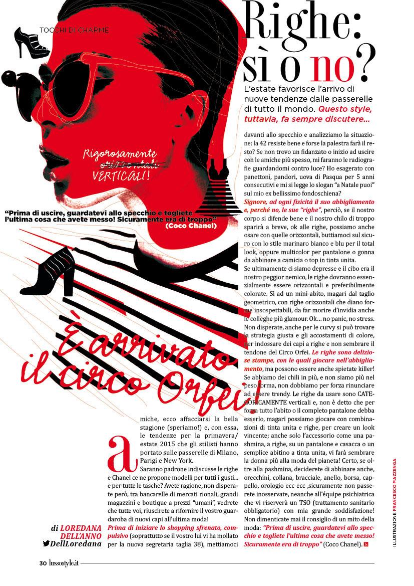 Uomo&Manager Lusso Style illustrazioni Francesco Mazzenga grafica editoriale