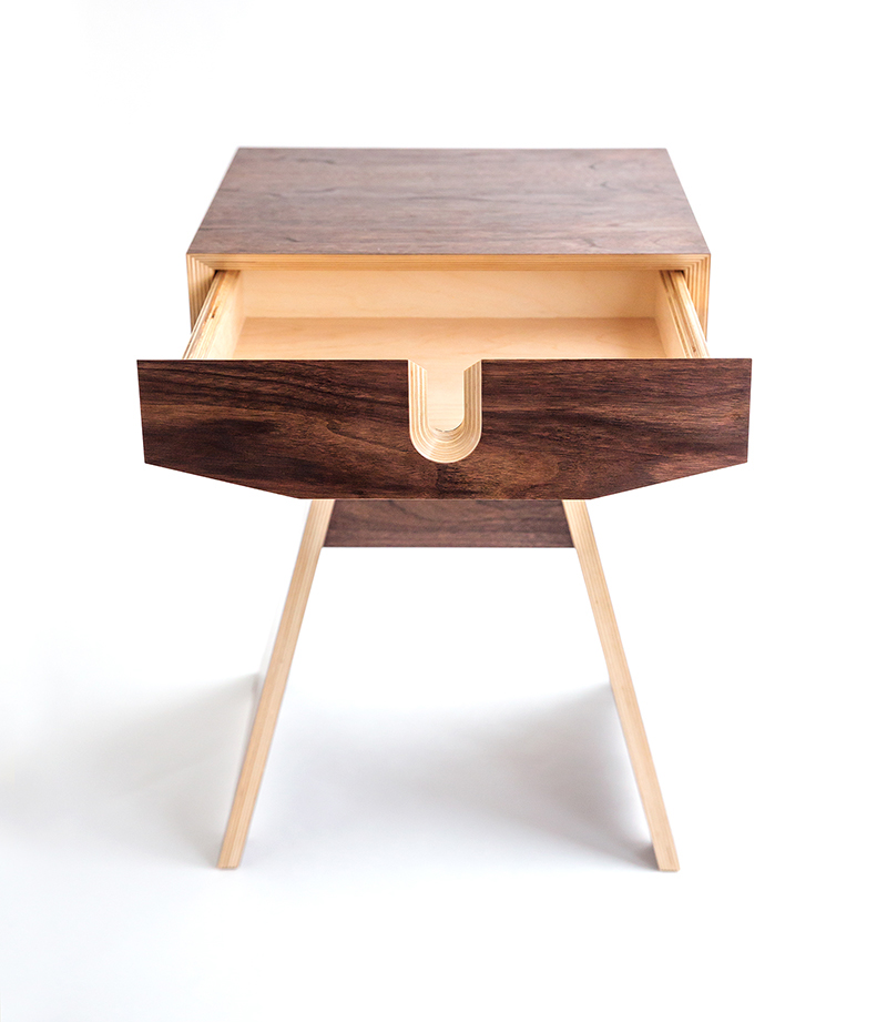 Hive dismountable plywood bedside table on behance for Plywood bedside table