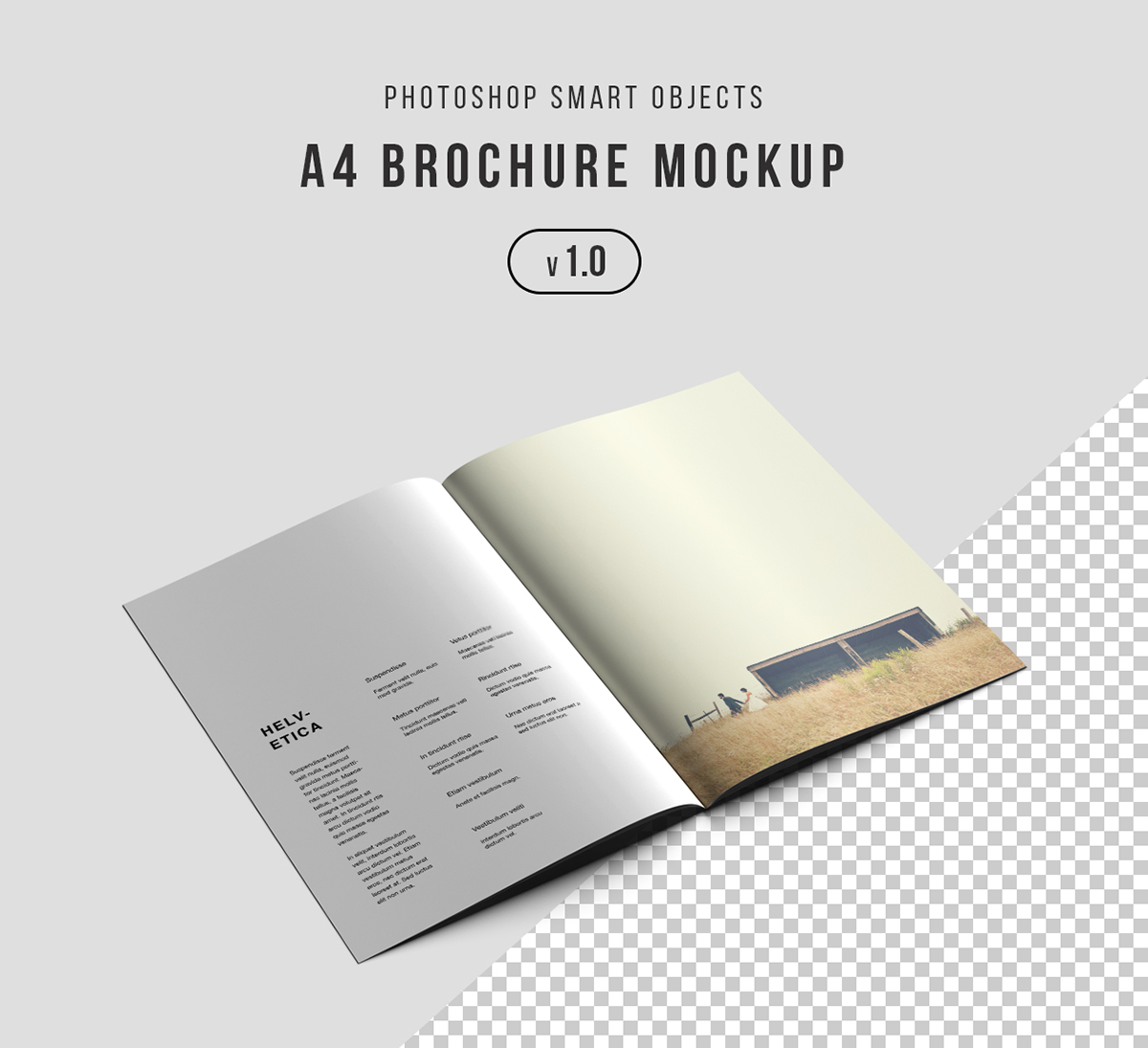 A4 Brochure Photoshop Mockup Psd On Behance