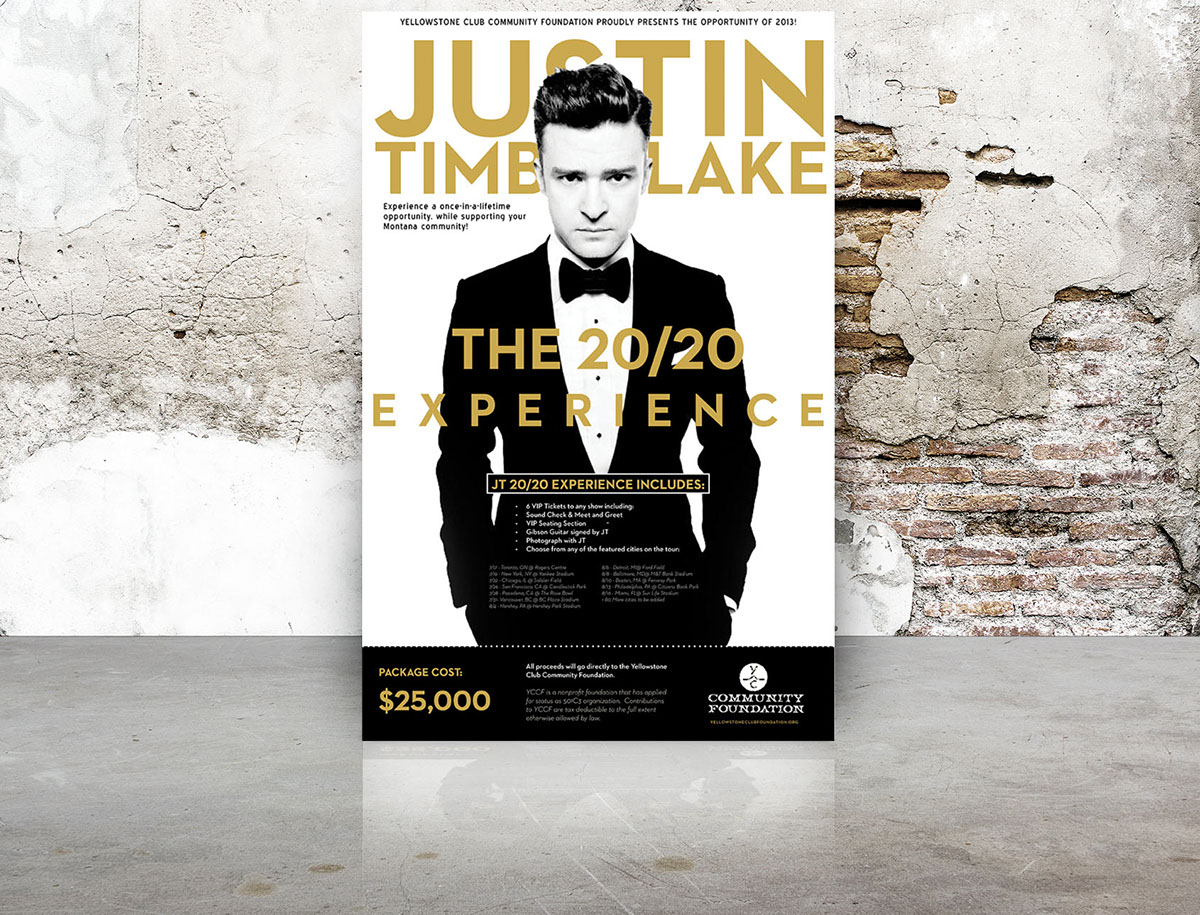 Justin timberlake auction package on behance m4hsunfo