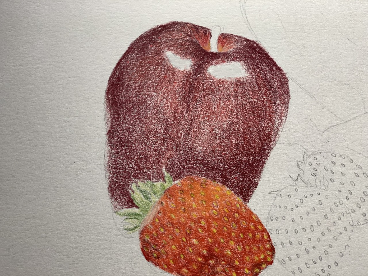 Image may contain: fruit, drawing and food