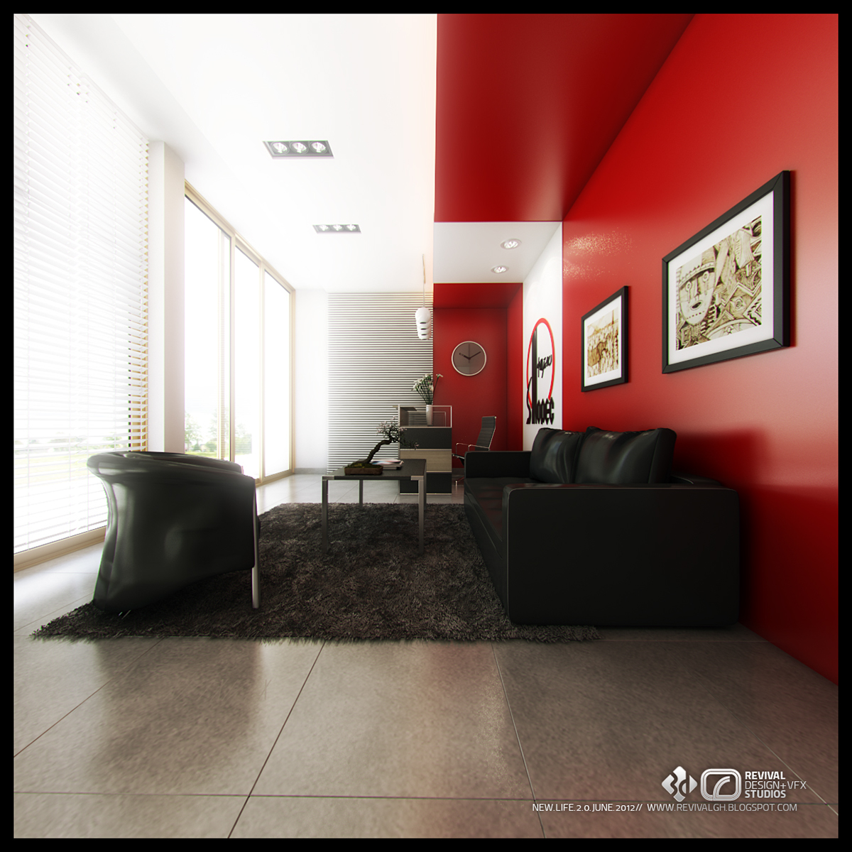 Sinopec ghana interiors on behance for Interior decoration ghana