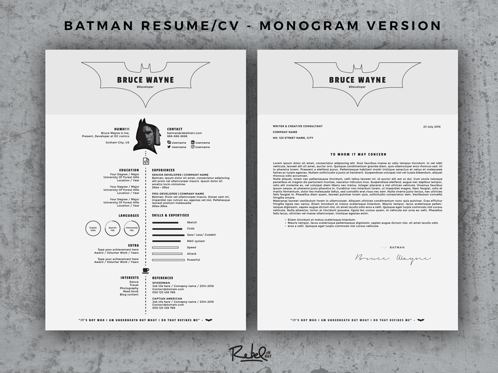 batman resume