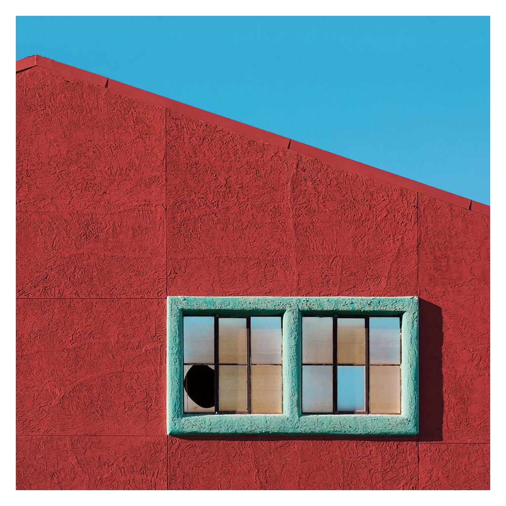 color architecture design minimalist graphic square shape line vibrant texture