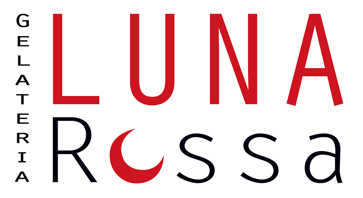 gelateria luna rossa Logo Design luna rossa maastricht