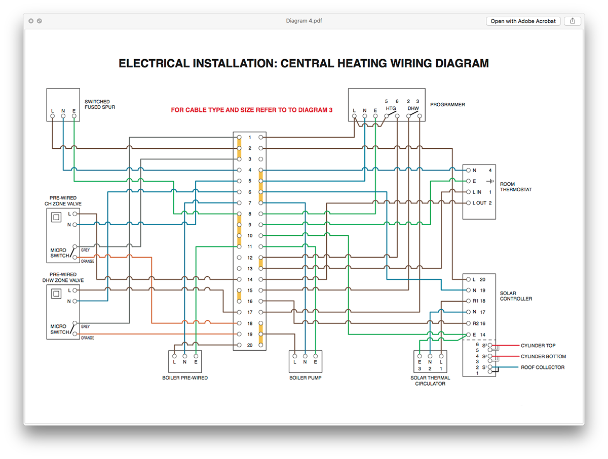 Electrical Diagrams On Behance Electric Central Heating Wiring Diagram A Set Of Schematic Produced For Client As An Educational Aid