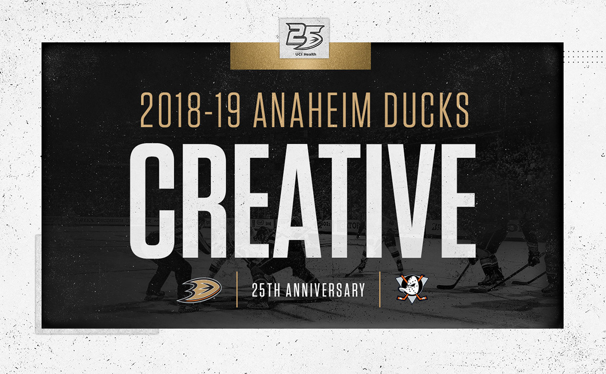 sports shoes 4be91 18638 2018-19 Anaheim Ducks Season Creative on Behance