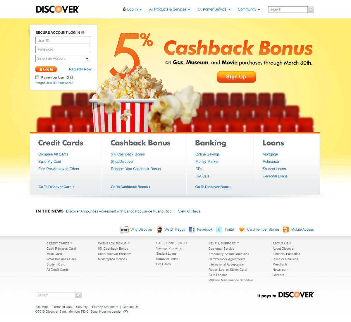 discover online banking