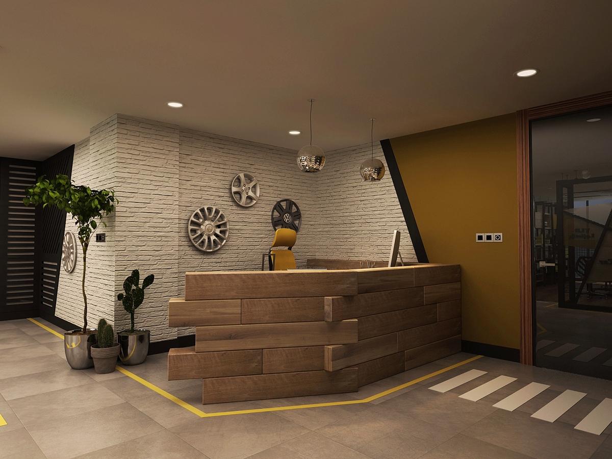 Rent A Car Office Interior Design On Behance