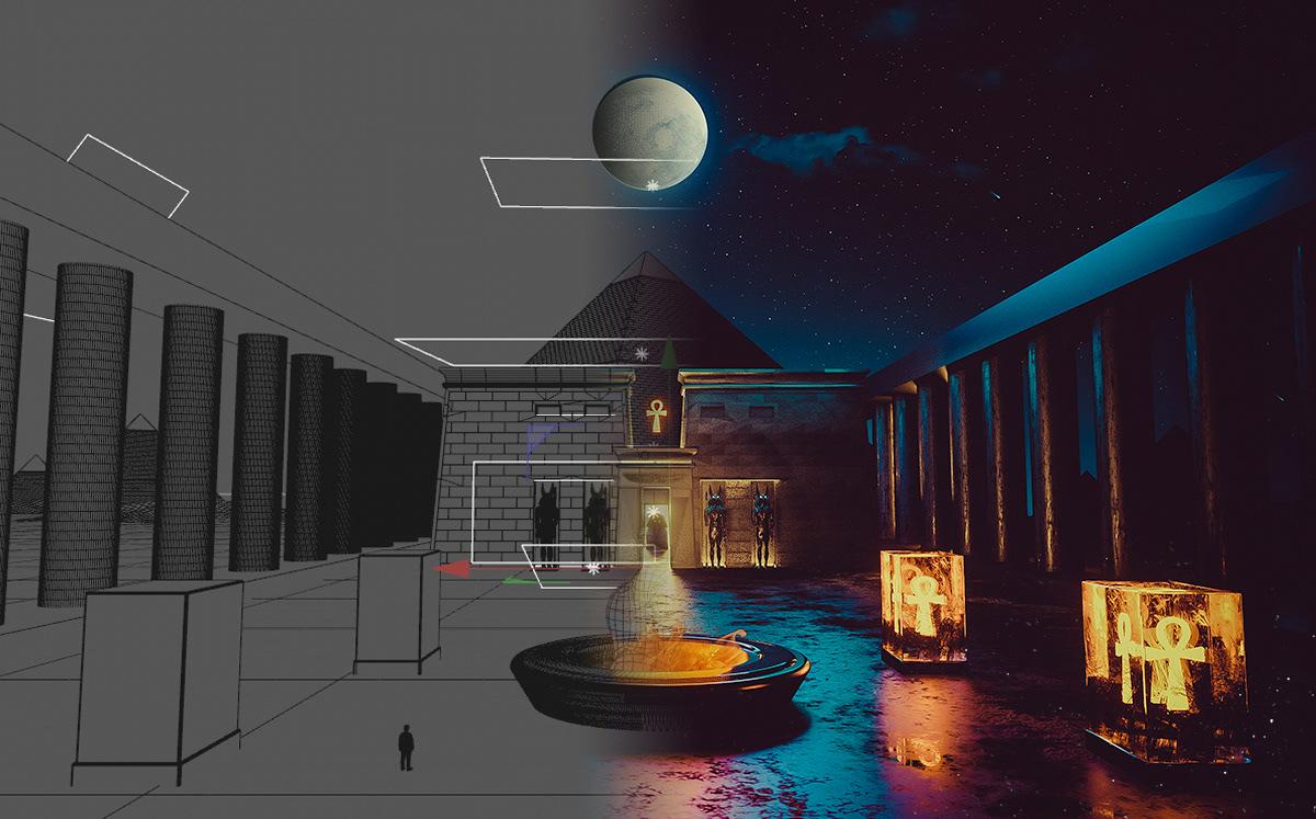 egypt Ps25Under25 3D MakeIT cc2017 dark photomanipulation Sci Fi pharaoh adobe