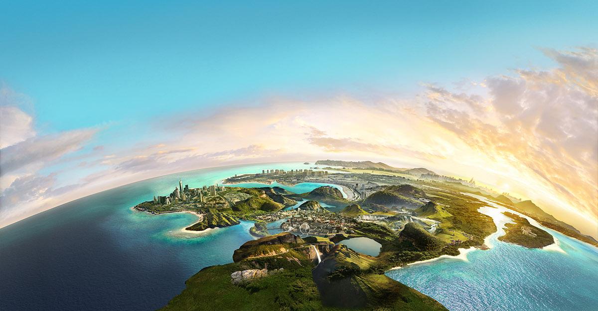 matte painting   creative retouching  Landscape environment fantasy
