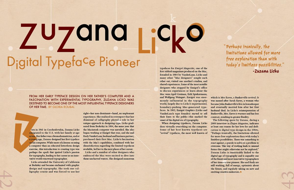 Editorial Spread—Zuzana Licko on Behance