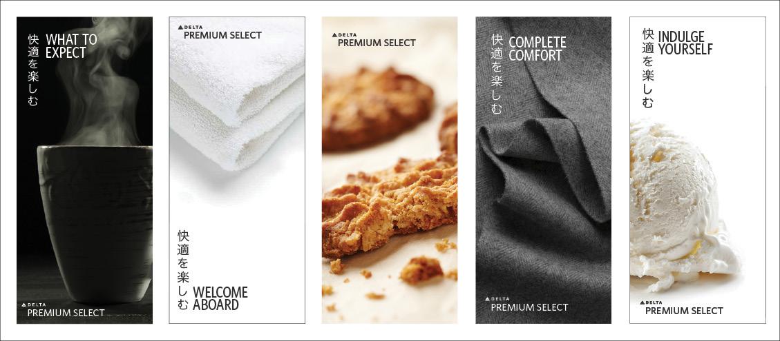 Adobe Portfolio menu design brochure design delta airlines