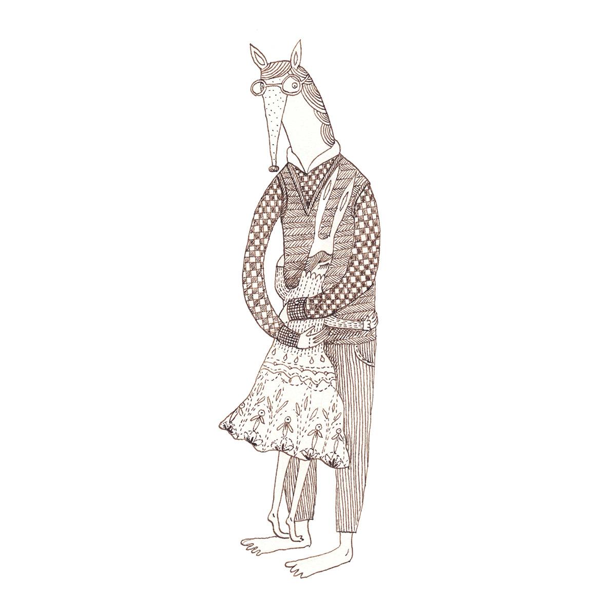 Veronica Neacsu Love short story romanian illustrator ink drawing monochrome illustration ILLUSTRATION