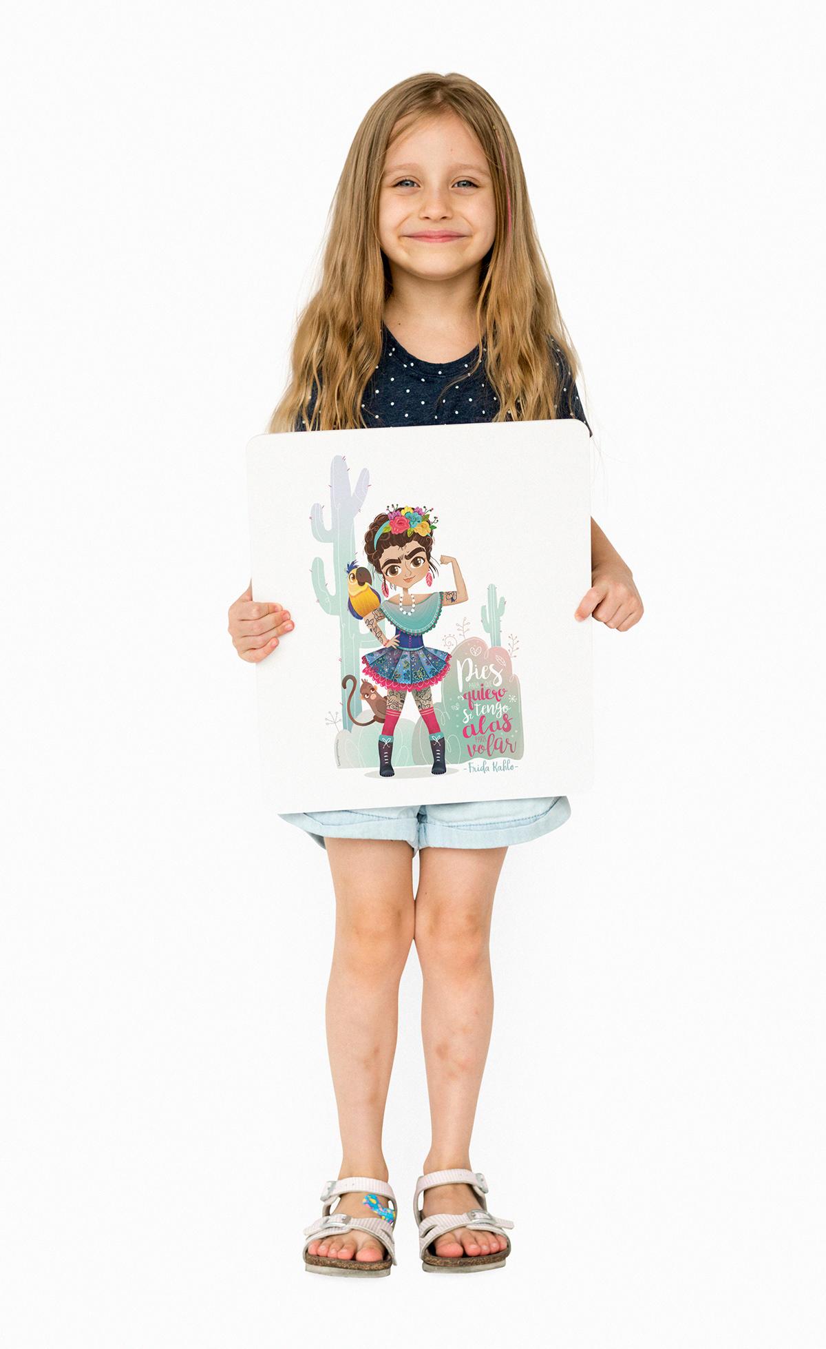 ilustracion infantil fridakhalo