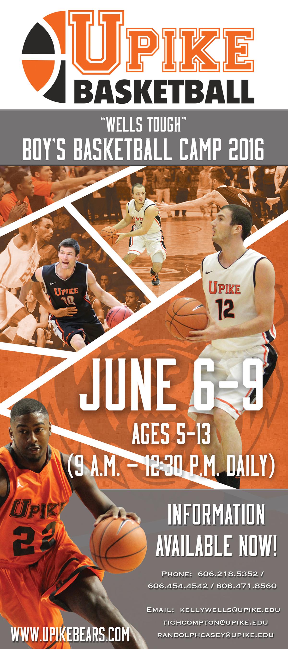 UPIKE Men's Basketball Summer Camp Promo on Behance