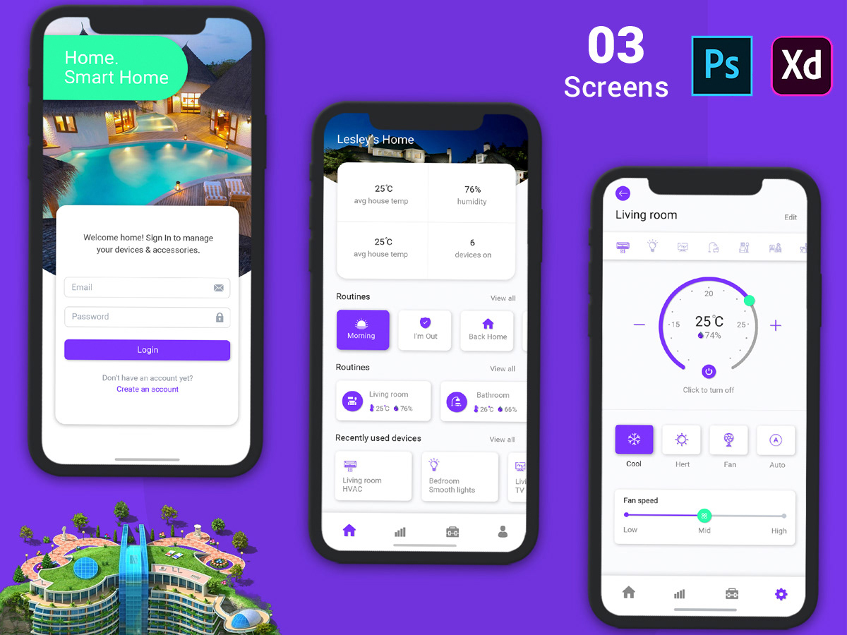 Hotel Booking App for Mobile UI Kit PSD on Behance
