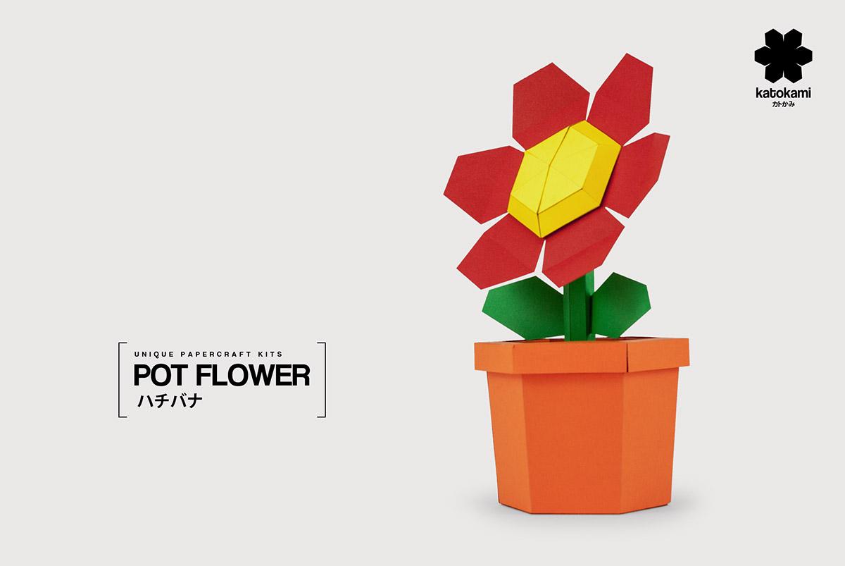 Pot Flower Red