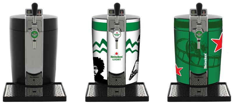heineken BeerTender Mockup Heineken Light