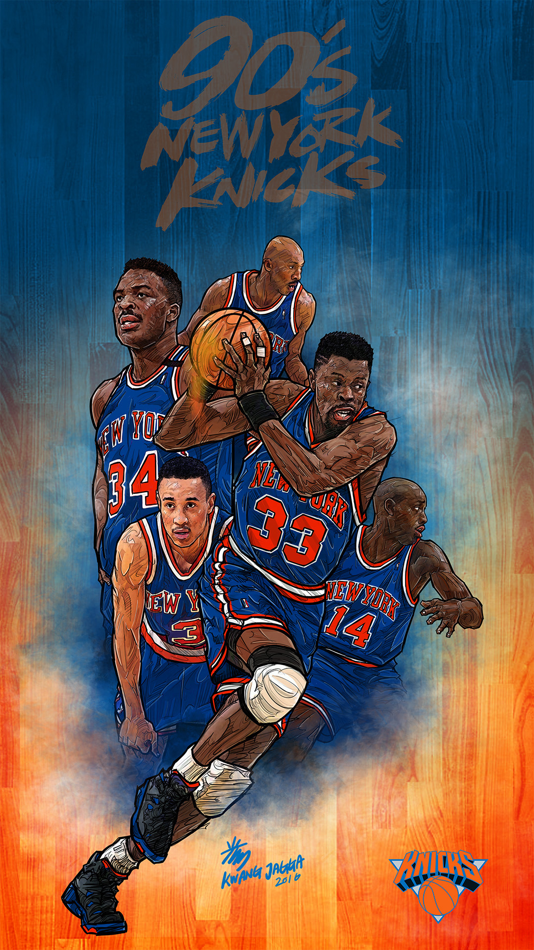 90s New York Knicks Smartphone Lock Screen Wallpaper On Behance