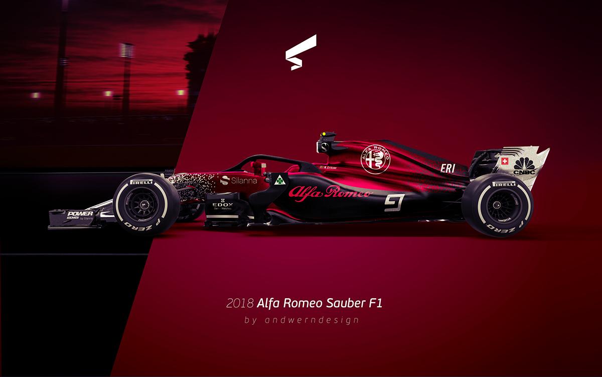2018 alfa romeo sauber f1 on behance