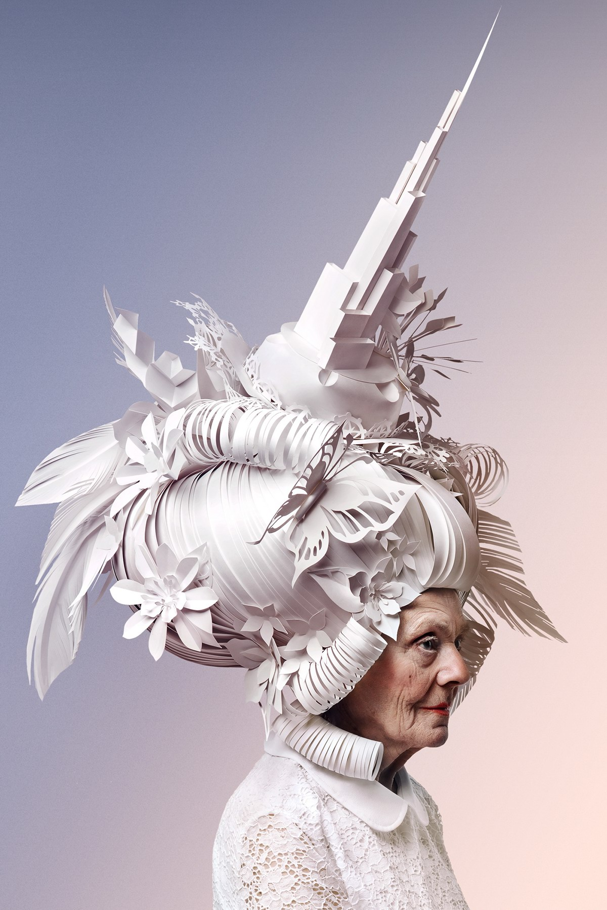 paper skyscraper luxury baroque paper art paper sculptures wig airplane costume ship