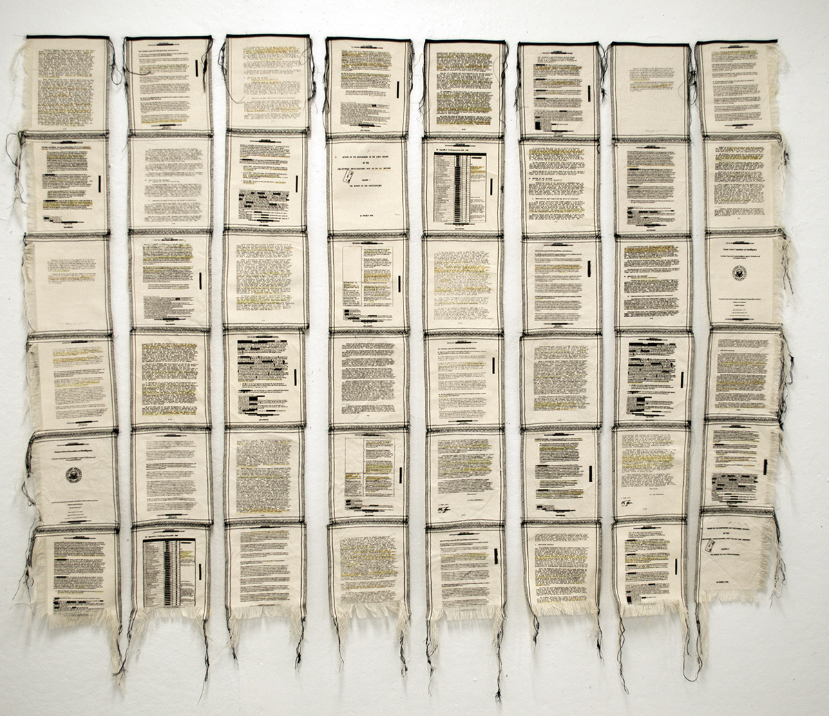 Redacted Files screen-printed Embroidery