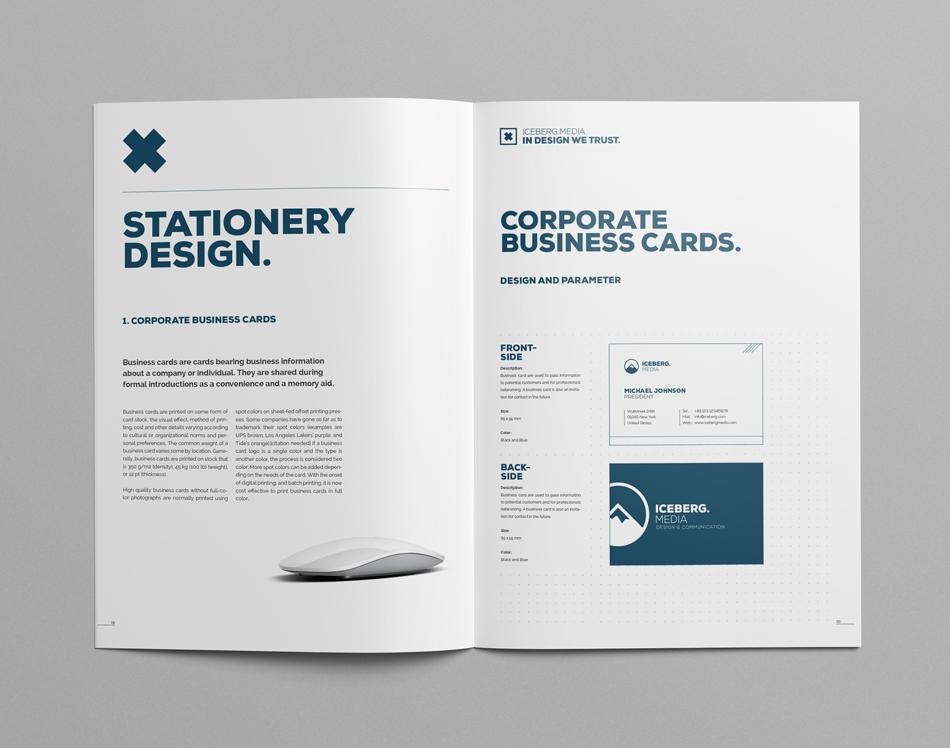 elite corporate design manual guide on behance