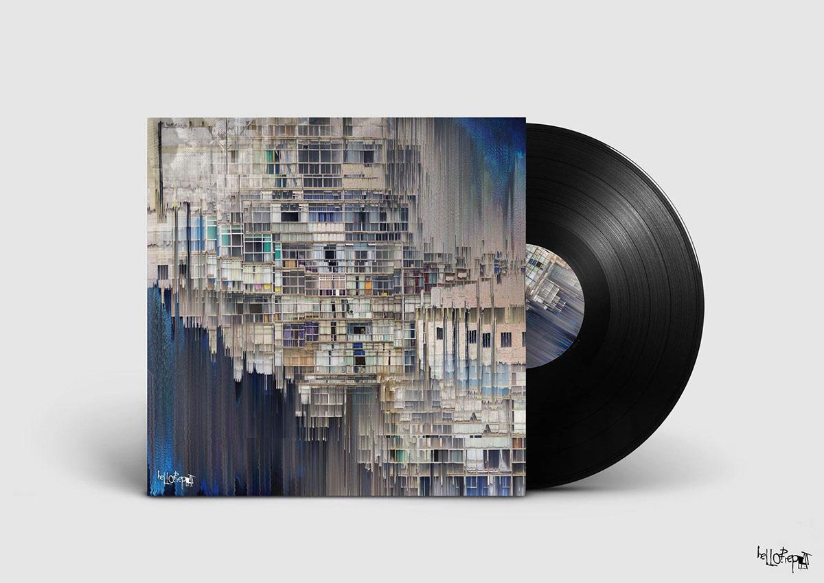 glitch art Copan Album cover record uruguay electronic building Glitch vinyl