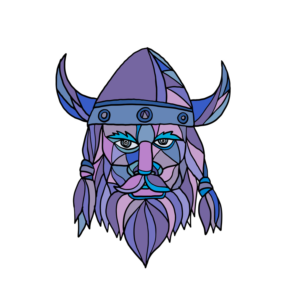 Viking Head Mascot Mosaic On Behance