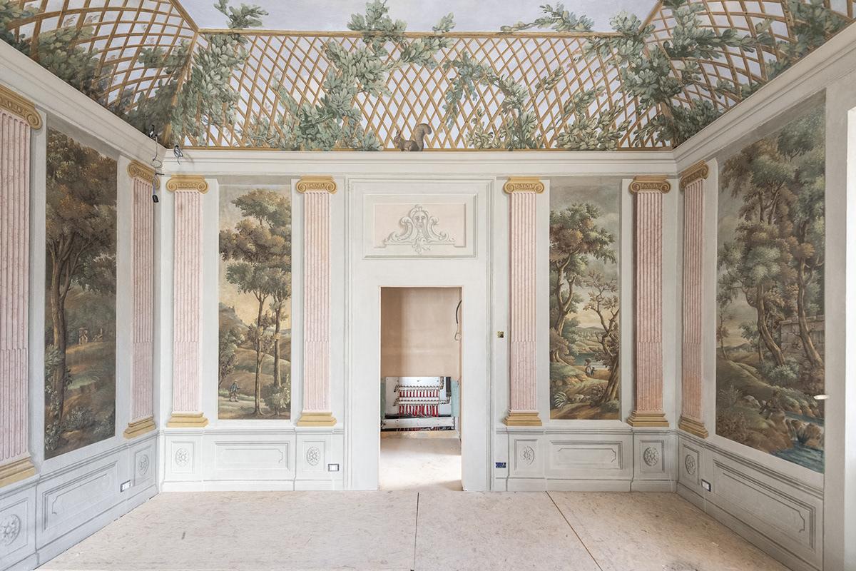 affreschi 700 pierattelli architetture progetto di architettura restauratore restauro studio di architettura Villa Bibbiani Villa in Toscana
