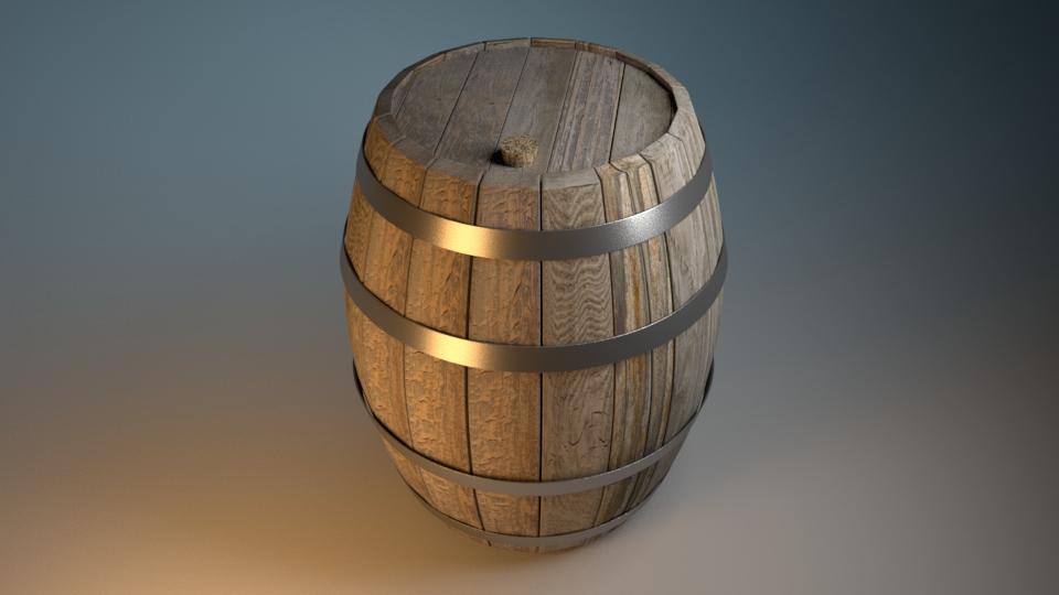 Autodesk Maya  Textured Wine Barrel  on Behance